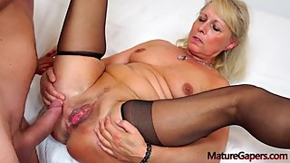 Koko, Classy Mature Blonde Lady Gets Her Pussy Gaped By Her Young Lover !!!