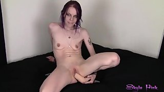 Skyla Pink playing with my pussy like a good little white girl