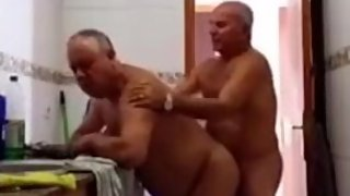 Grandpa fucks & gets a blowjob by another grandpa