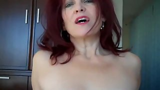 My redhead MOM is my first. Mature woman gets creampie. POV SEX with MILF