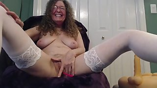 Hairy mature LittlePistol masturbates