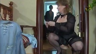 Naughty mature stepmom seduces her perverted stepson on vacation