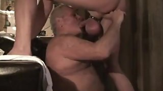 Grandpa suck man with huge balls