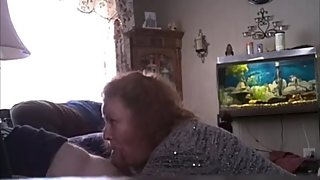 Ugly wife sucks off my cock