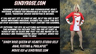 Sindy Rose Queen of Hearts studio self anal fisting and prolapse
