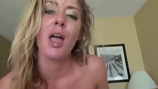Crazy mature stepmom gets fucked by her stepson in ALL holes