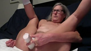 Hot Milf Toys With Her New Huge Rabbit Dildo Fingers Pussy