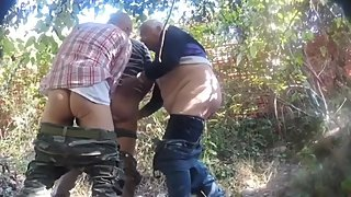 Grandpas & daddies having sex outdoors -2