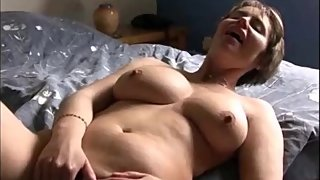 Mature woman masturbating in front of her lover