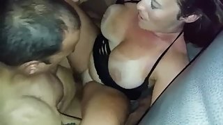 Husband films his busty wife gets rough fucked by his best friend