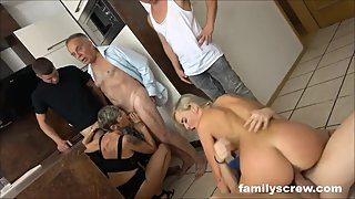 Blonde Babe Meats the Family