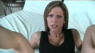 Perverted mature stepmom convinced her stepson to fuck her tight ass
