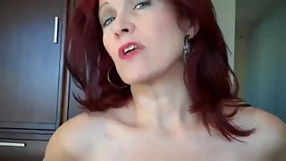 Shameless mature redhead stepmom let her stepson cum inside her cunt