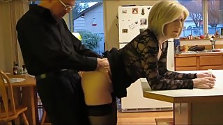 Taboo! Stepson fucks his mature stepmom in the ass with huge creampie