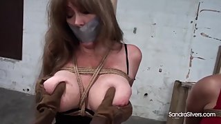 1996 Big-titted MILFs in Clubwear Tied to Pole, Groped POV!