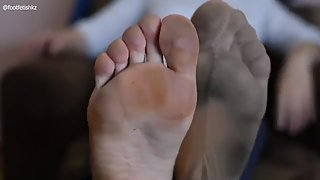 Natural Soles of Mature Woman