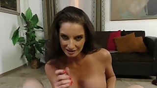 Naughty and horny stepmom made her stepson cum on her face