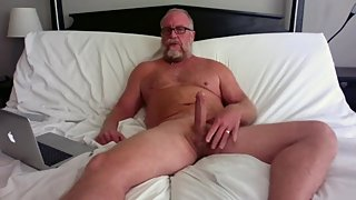 Hot Milf Gets Hubby To Masturbate His Big Cock Happy Ending