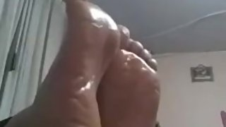 Luz Marina Colombia mature 45 years oil sexy soles feets