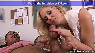 Naughty America - Find Your Fantasy Julia Ann fucking in the desk with her