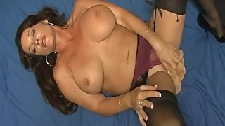 Rachel Steele Fetish002 - Black Stockings Milf Masturbation with Teddy Bear