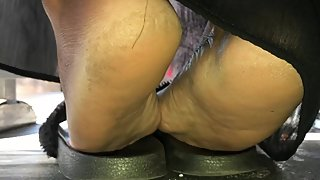 Mature ebony soles