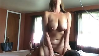 Horny mature MILF rides her neighbor's cock like a pro