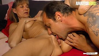 AmateurEuro - Mature German Wife Cums Hard On Neighbor's Cock