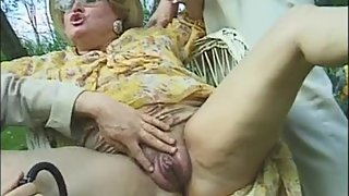 Mature gets pussy pumped and ass fucked