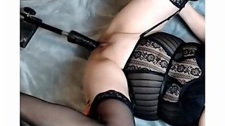 milf on fuck machine