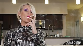 Long Nails And A Saratoga 120 - Smoking MILF - Nikki Ashton