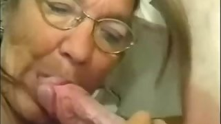amateur, blowjob, cumshot, homemade, mature,granny,grandma,facial,glasses