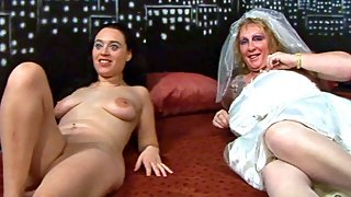 Bridesmaid and Brides group sex