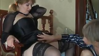 Taboo! Stepson with big cock seduces and fucks his mature stepmom