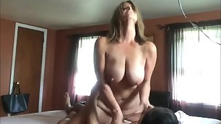 My best friend's wife rides my big cock like a real master
