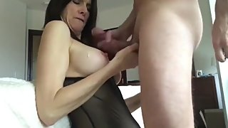 Shameless mature stepmom gets hard fucked by her stepson