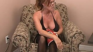 Rachel Steele MILF48 - MILF in black stockings dancing