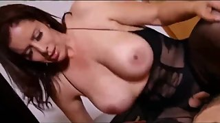 Gorgeous and sexy stepmom fucks hard her shy and virgin stepson