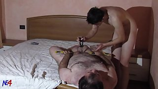 slave torment 3 - young master torments his mature slave