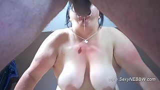 Sexy BBW Mouth Spread Deepthroat