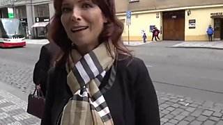 Lucky stranger fucks mature american MILF in ass in Prague for the money