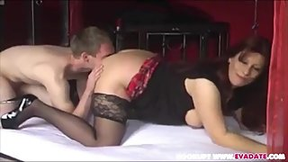 Horny Stepmom Fucks Stepson At Home