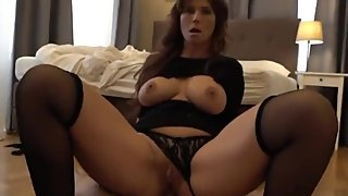 Mature american MILF enjoying anal sex with stranger for the money